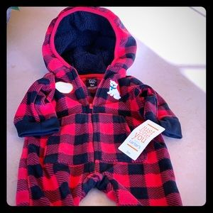 Carter's Baby Boy Fleece Bodysuit Size 3M NWT